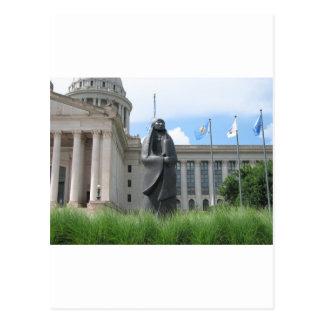 オクラホマの州都の彫像 ポストカード