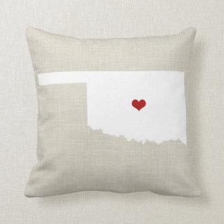 """オクラホマの新しい故郷の州の装飾用クッション16"""" x 16"""" クッション"""