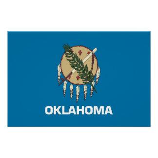 オクラホマの旗が付いている愛国心が強いポスター ポスター