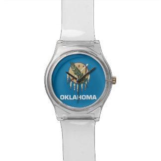 オクラホマの旗が付いている愛国心が強い子供の腕時計 腕時計