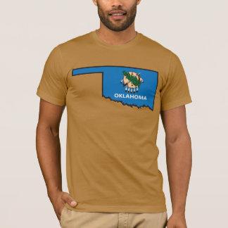 オクラホマの旗の地図 Tシャツ