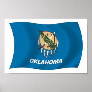 オクラホマの旗ポスタープリント ポスター