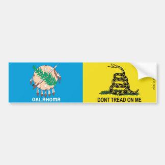 オクラホマの旗及びガズデンの旗のバンパーステッカー バンパーステッカー