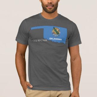 オクラホマの旗地図のワイシャツ Tシャツ