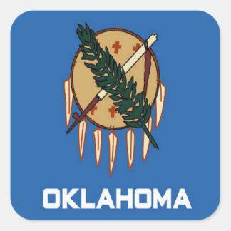 オクラホマの旗 スクエアシール