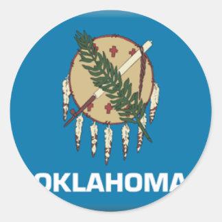 オクラホマの旗 ラウンドシール