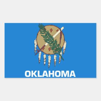 オクラホマの旗 長方形シール