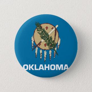 オクラホマの旗 5.7CM 丸型バッジ