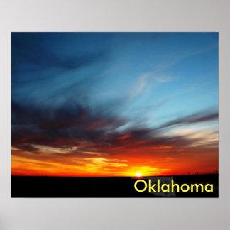 オクラホマの日没 ポスター