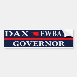 オクラホマの知事のためのDax Ewbank バンパーステッカー