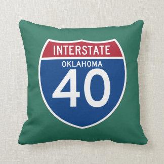 オクラホマの良いI-40州間幹線道路の盾- クッション