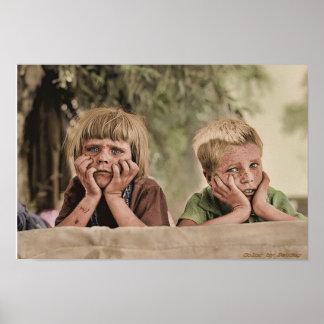 オクラホマの避難者の子供1936年 ポスター