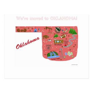 オクラホマの郵便はがきへの引っ越しました ポストカード