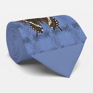 オクラホマの黒いアゲハチョウの蝶 オリジナルネクタイ