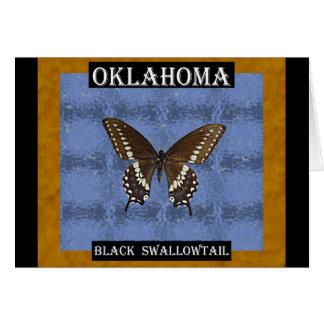 オクラホマの黒いアゲハチョウの蝶 カード