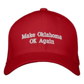 オクラホマのOKの野球帽を再度作って下さい 刺繍入りキャップ