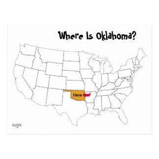 オクラホマはどこにありますか。 ポストカード