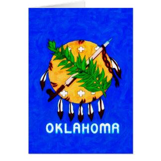 オクラホマは旗プロダクトを絵を描きました カード