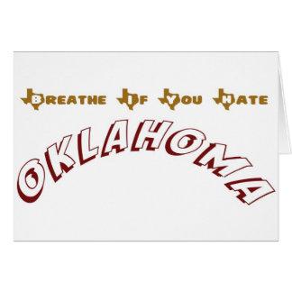 オクラホマを憎んだら呼吸して下さい カード