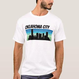 オクラホマシティーのレトロのスカイライン Tシャツ