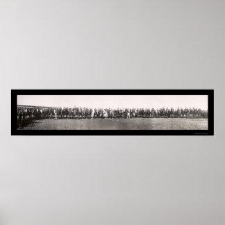 オクラホマシティーのロデオの写真1909年 ポスター