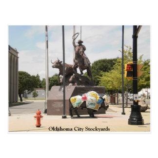 オクラホマシティーの家畜飼育場水牛およびカウボーイ ポストカード
