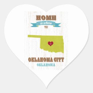 オクラホマシティー、オクラホマの地図-どこであります家 ハートシール
