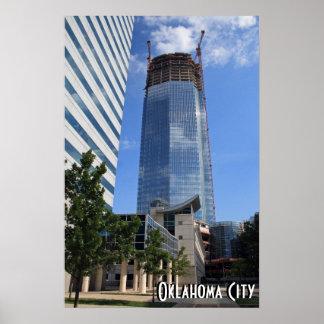 オクラホマシティー、デボンタワーの建築ポスター ポスター