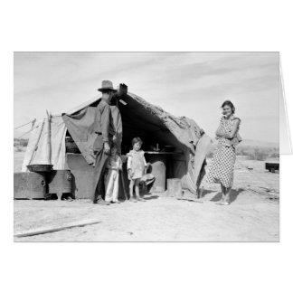 オクラホマ1937年に戻るべき4人家族 カード