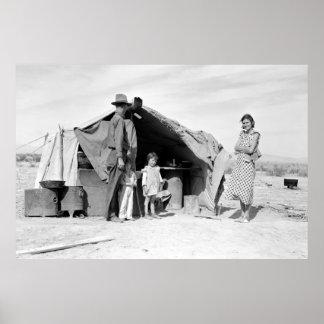 オクラホマ1937年に戻るべき4人家族 ポスター