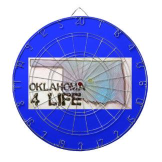 """""""オクラホマ4生命""""の州の地図のプライドのデザイン ダーツボード"""