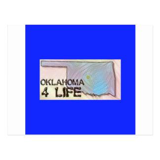 """""""オクラホマ4生命""""の州の地図のプライドのデザイン ポストカード"""