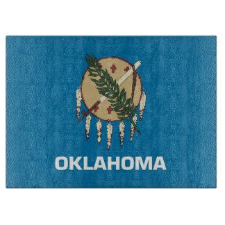 オクラホマ、米国の旗を持つガラスまな板 カッティングボード