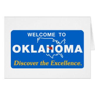 オクラホマ-米国--のへようこそ交通標識 カード