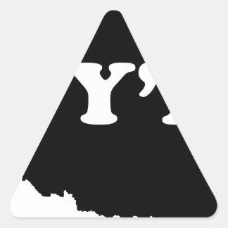 オクラホマYall 三角形シール