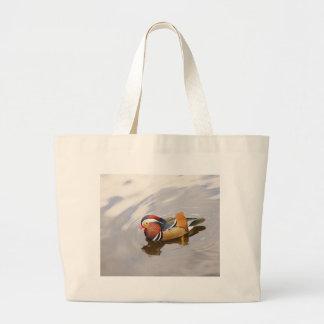 オシドリのバッグ ラージトートバッグ