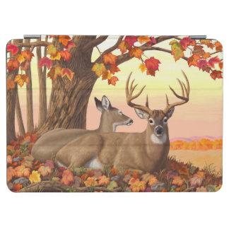 オジロ鹿シカのカエデの木の秋のオレンジ iPad AIR カバー