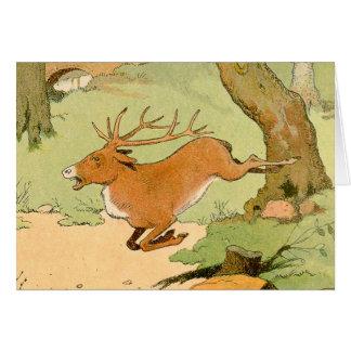 オジロ鹿シカの雄鹿の詳細 カード