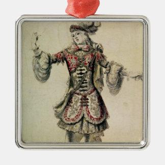 オスのダンサーのためのデザイン、c.1681を着せて下さい メタルオーナメント