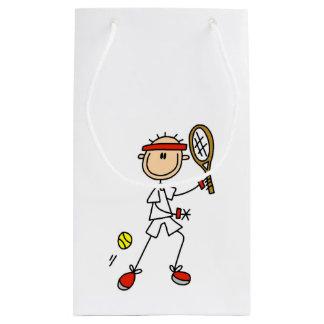 オスの棒の姿のテニス選手 スモールペーパーバッグ