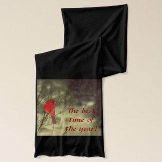 オスの(鳥)ショウジョウコウカンチョウ スカーフ