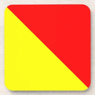 オスカーの黄色い赤 コースター