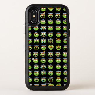オスカー不機嫌のEmojiパターン オッターボックスシンメトリー iPhone X ケース