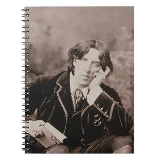 オスカー・ワイルド(1854-1900年)のポートレート、1882年(b/wのpho ノートブック