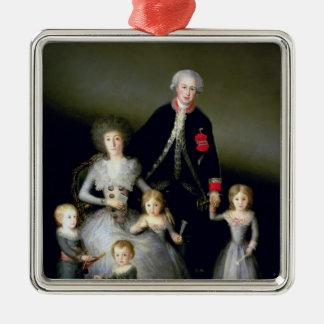 オスナの公爵および彼の家族1788年 メタルオーナメント