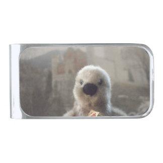 オスロはペンギンのマネークリップ、めっきされて銀を着せます シルバー マネークリップ