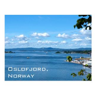 オスロ、ノルウェーからのOslofjordの夏の眺め ポストカード