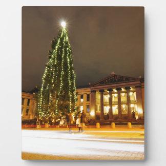 オスロ、ノルウェーのクリスマス フォトプラーク