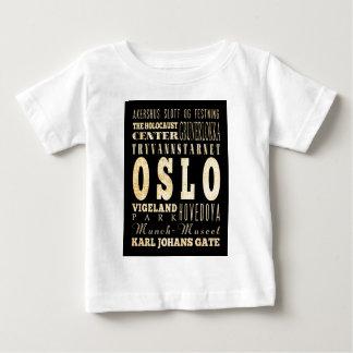 オスロ、ノルウェーの魅力そして有名な場所 ベビーTシャツ