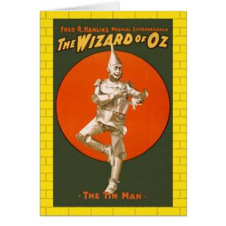 オズの魔法使いの錫の人-ヴィンテージのミュージカルシアター カード